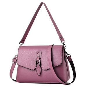 ボルサ シンプルデザインハンドバッグ ショルダーバッグ Purple