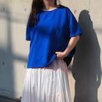 【ethical hippi】wide t-shirt (blue×navy)/ 【エシカル ヒッピ】ワイド Tシャツ(ブルー ネイビー)