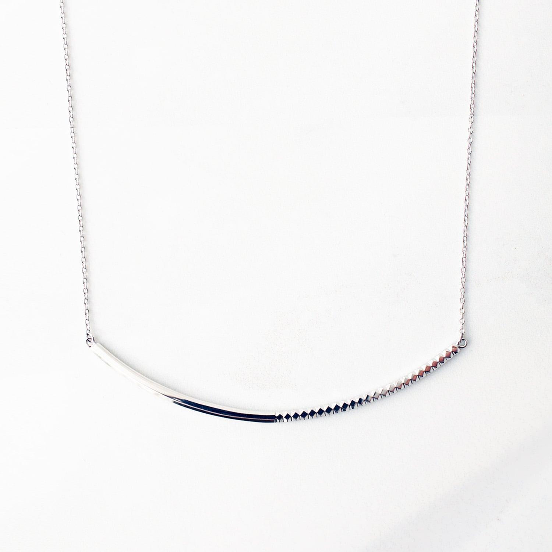 Rock Gold Necklace / L(N182-WG)