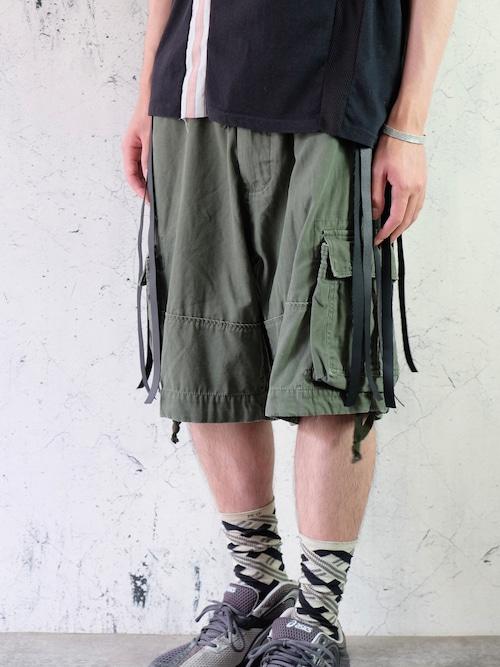 techno like military shorts