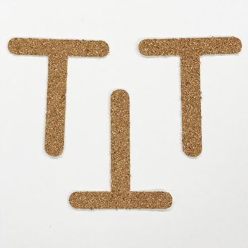 切り文字 A&Cペーパー コルク 粘着付 アルファベット「T」