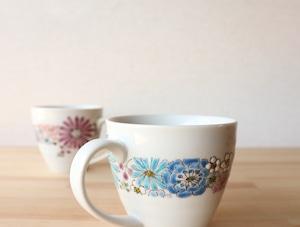 華(帯)夫婦マグカップ