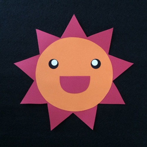 太陽(赤)の壁面装飾