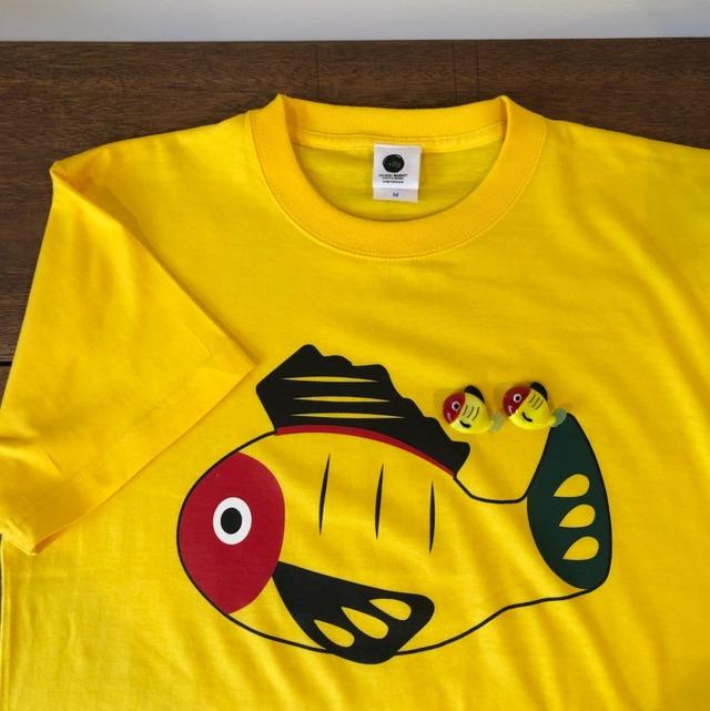 【送料無料】黄ぶなTシャツと箸置き2個のセット【疫病退散シリーズ】