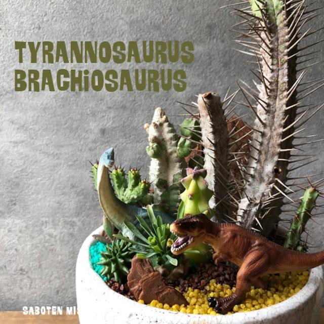ティラノサウルス&ブラキオサウルス
