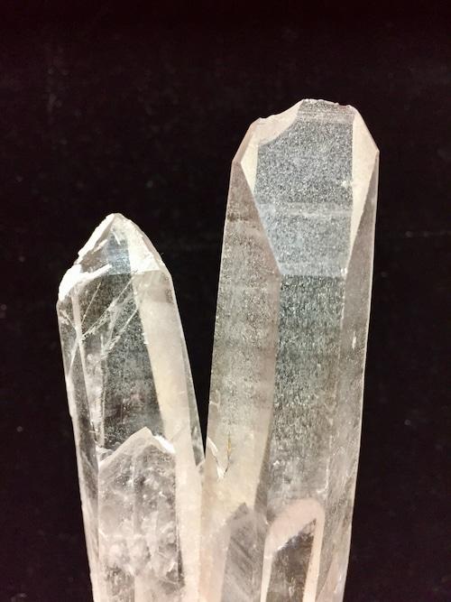 1) 陰陽ツイン水晶 (エンジェルラダー)