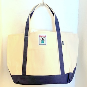 Shabby Color Handle Tote Bag Navy