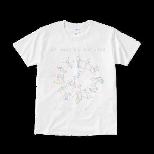 【見れるTシャツ】「WE HAVE NO DISTANCE」ホワイト(送料無料)