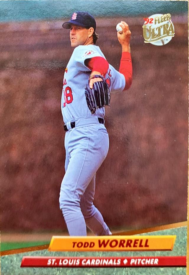MLBカード 92FLEER Todd Worrell #574 CARDINALS