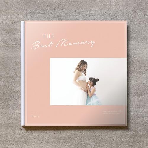 Simple pink-MATERNITY_A4スクエア_6ページ/10カット_クラシックアルバム(アクリルカバー)