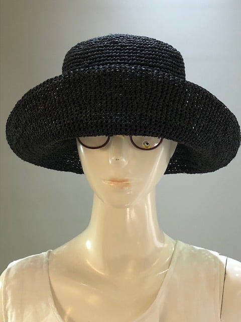 Sans Arcidet (サンアルシデ)FANNY HAT Col.Noir (Black) ラフィア定番人気の帽子 マダガスカル製