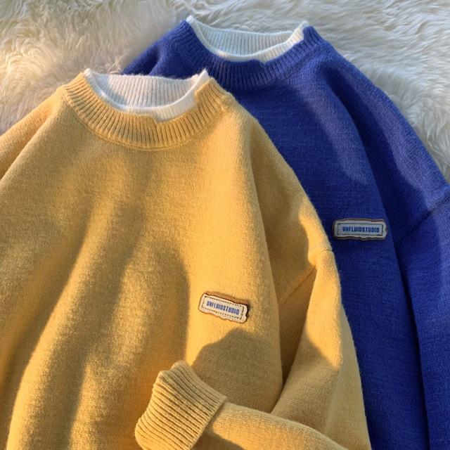 フェイクレイヤードセーター