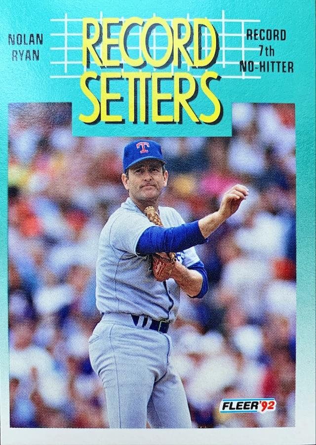 MLBカード 92FLEER Nolan Ryan #682 RANGERS