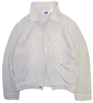 【S】 90s 00s GOOD ENOUGH ニットジャケット   初期 グッドイナフ ヴィンテージ 古着