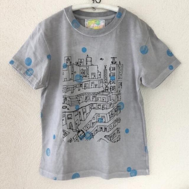 kidsTシャツ140cm「puzzle city bubble」140-210522
