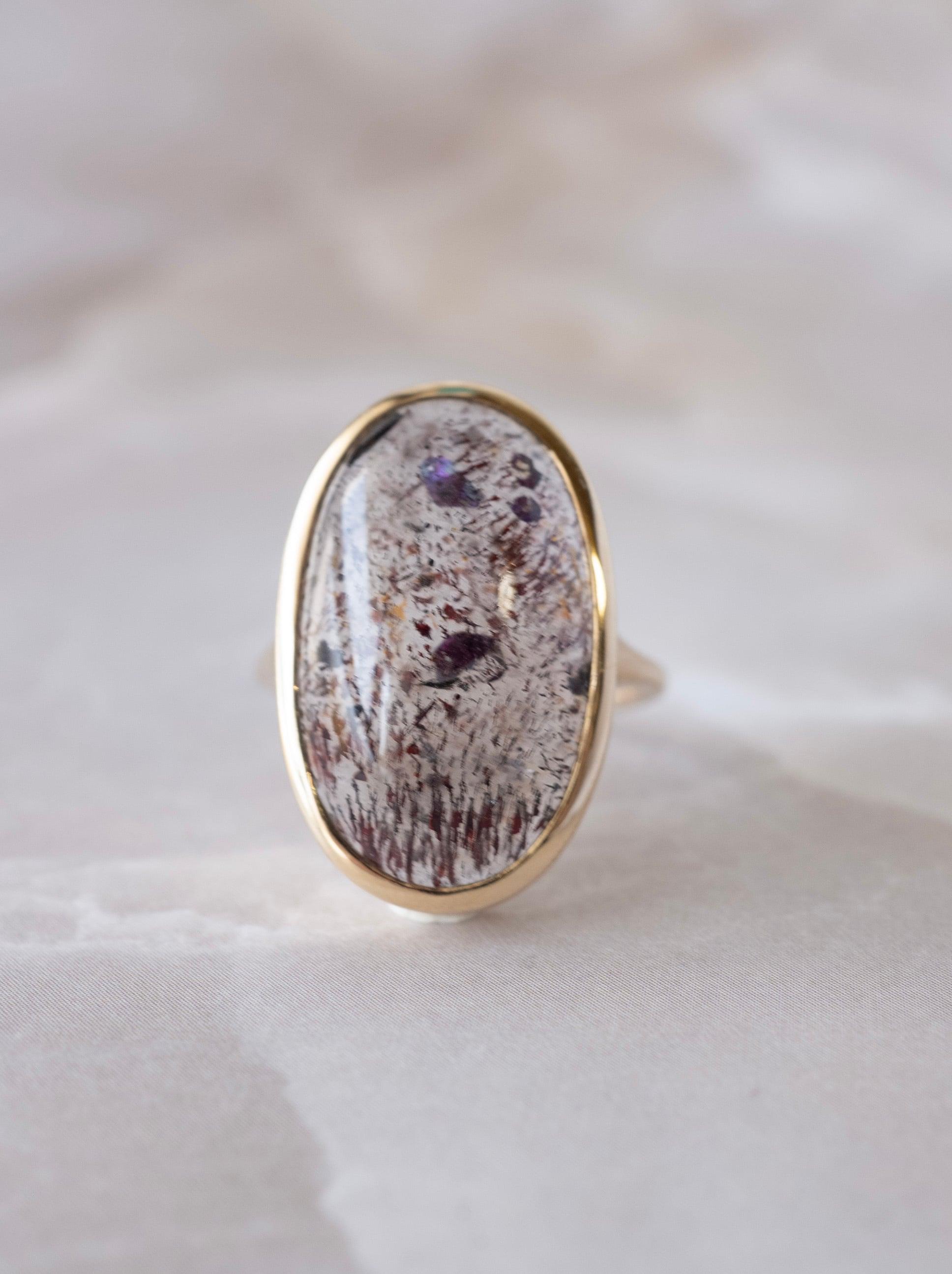 Pink Fire Quartz Ring
