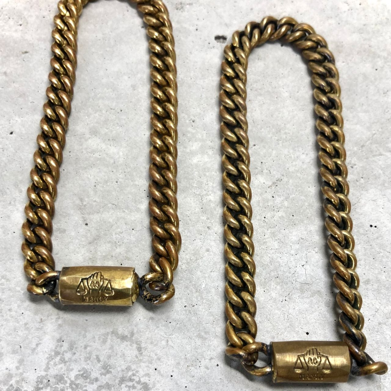 【MB-1BR】Kihei's short pitch chain Icon bracelet