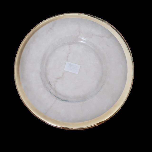 Gold line glas plate 22cm  / ゴールドラインガラスプレート 22cm