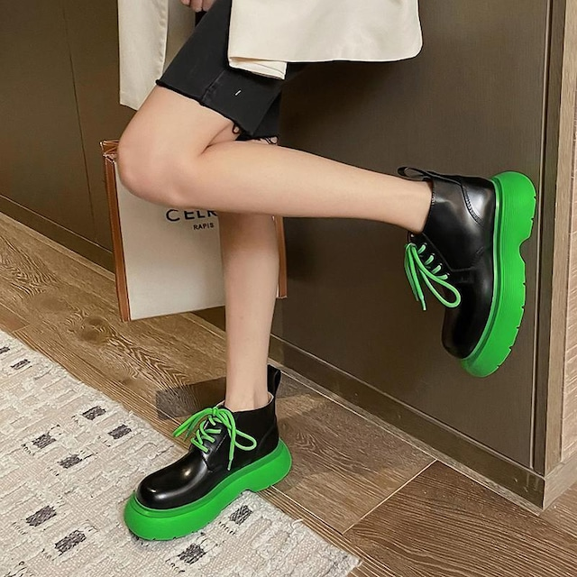 【シューズ】シンプル個性的ストリート系通勤通学ファッション厚底ブーツ52767471