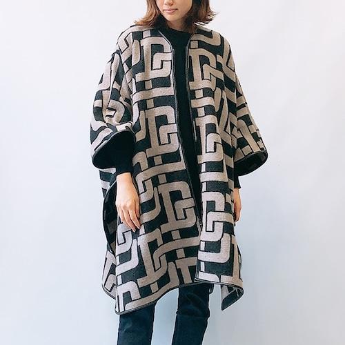 DOUBLE STANDARD CLOTHING(ダブルスタンダードクロージング)ジャガードパイピングポンチョ 2021秋冬物新作 [送料無料]