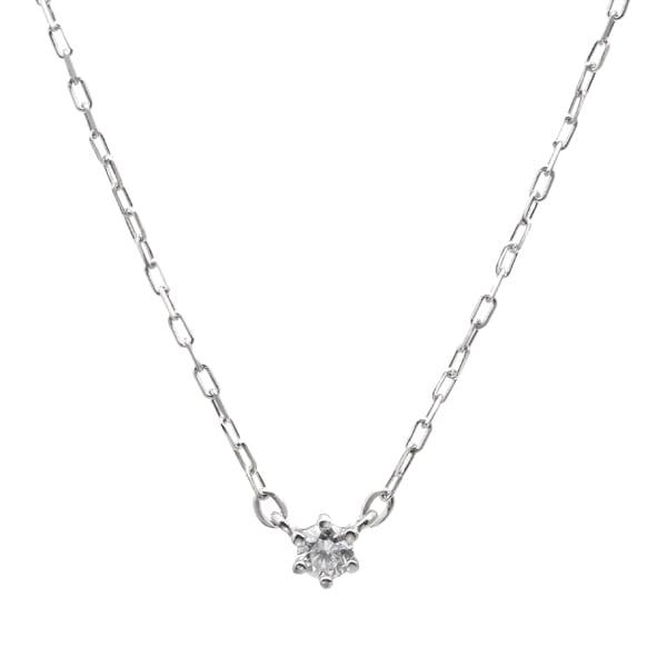 K10WGダイヤモンドネックレス 020201009203