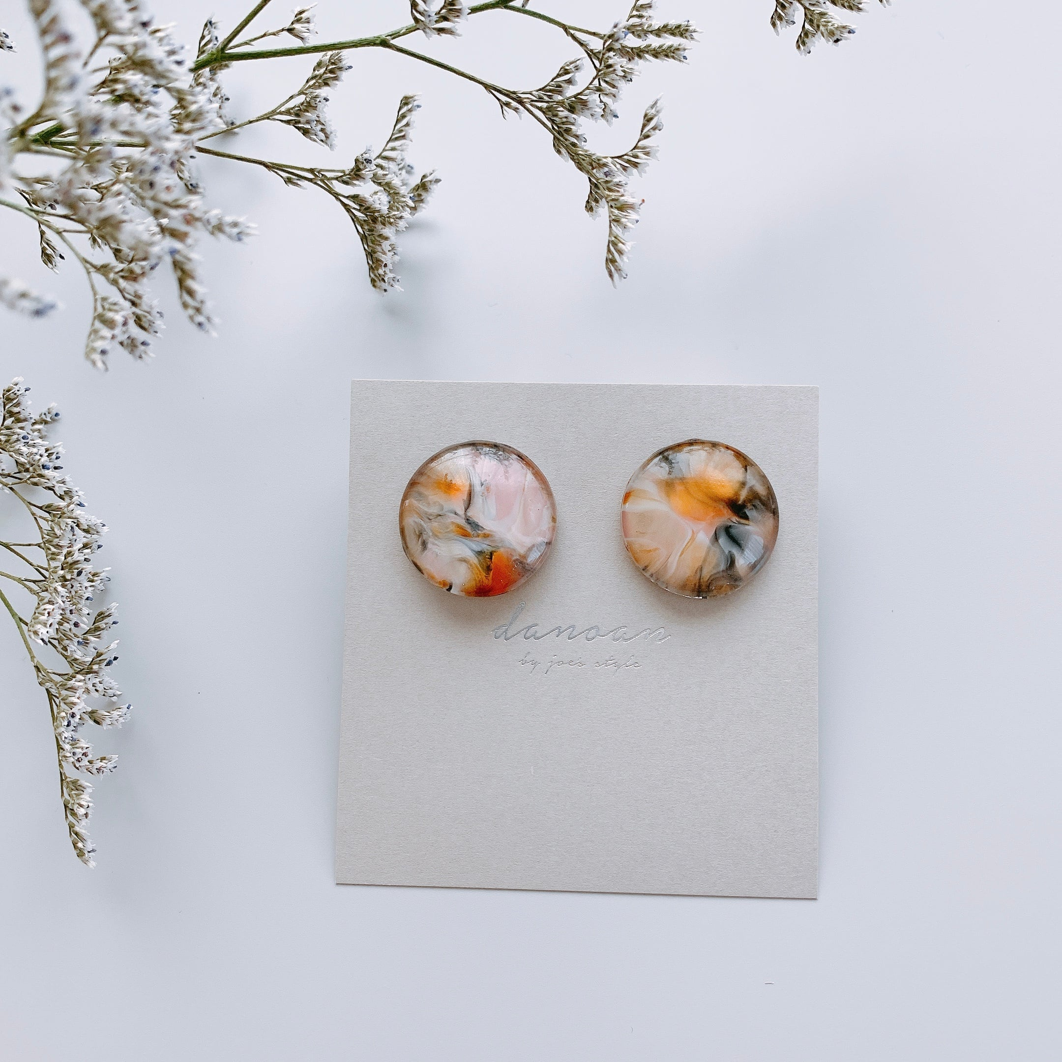 """ Earrings NO.danoan-1-1639″ マーブルペイント"