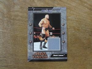 ブロック・レスナー ジャージ 2003 Fleer WWE WrestleMania XIX Mat Finish