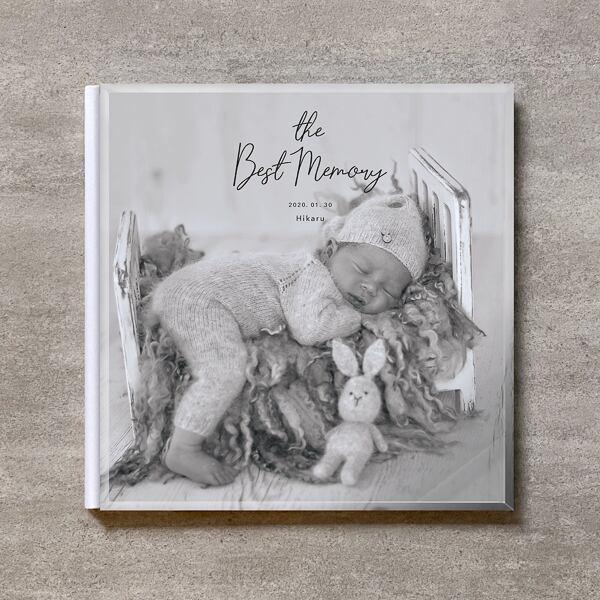 Monochrome-BABY_A4スクエア_6ページ/10カット_クラシックアルバム(アクリルカバー)