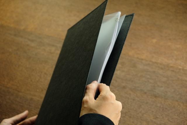 丈夫な紙のファイル