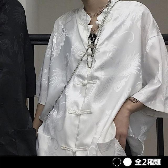ドラゴンチャイナ半袖シャツ(全2色) / HWG318