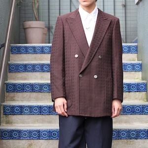 RETRO VINTAGE  METAL BUTTON DOUBLE TAILORED JACLET/レトロヴィンテージメタルボタンダブルテーラードジャケット