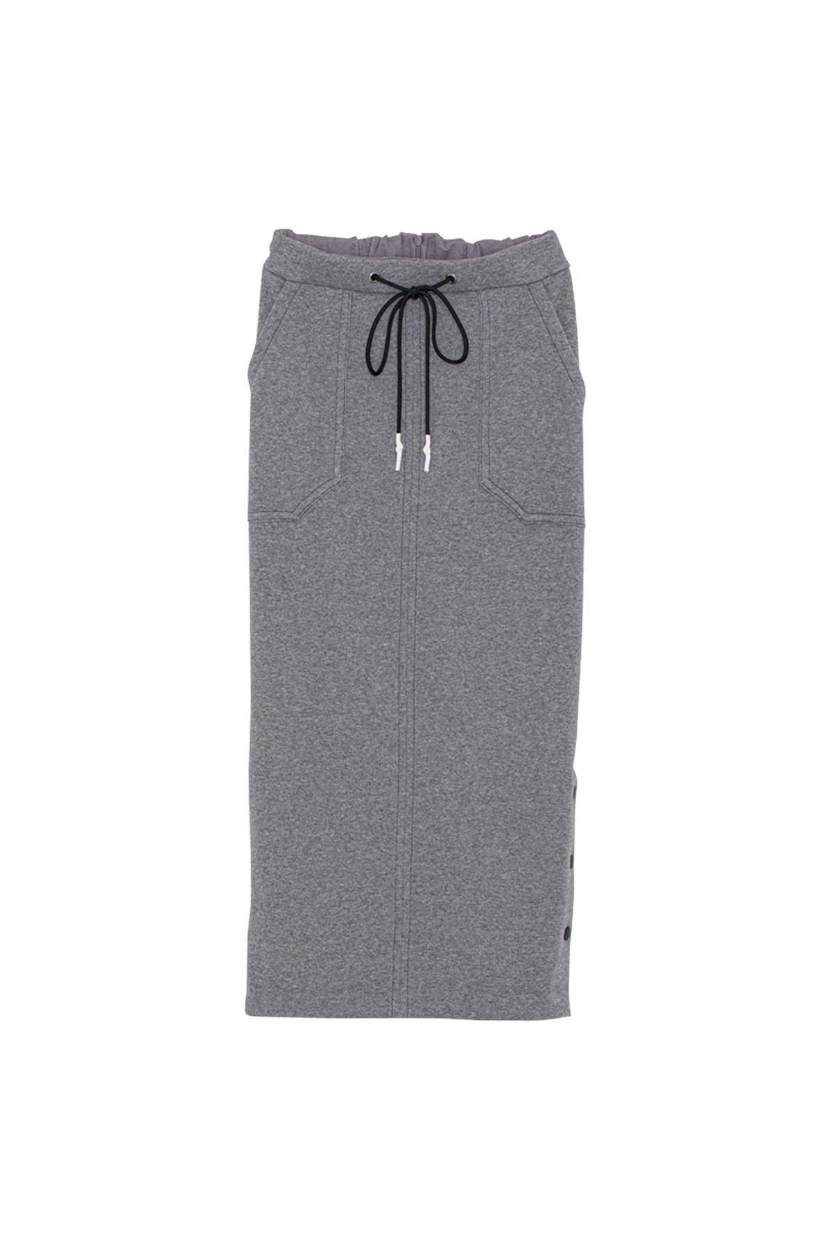 ソフトサーモジャージースカート< heather gray >