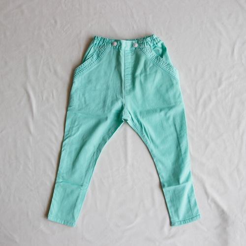 《cokitica 2015SS》sarrouel denim pants / mint green / 100cm