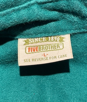 VINTAGE 90s FIVE BROTHER SHIRT -MADE in USA-