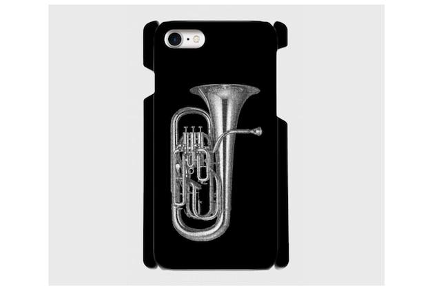 (iPhone用)ユーフォニアムのスマホケース(黒)