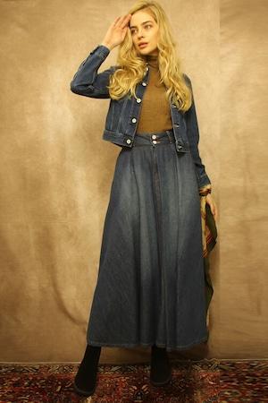 VERBENA(BLUE)フレアスカート