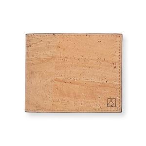 VEGAN  COIN WALLET  NATURAL / 二つ折り財布 ナチュラル&ブラック コルク製 小銭入れ付き