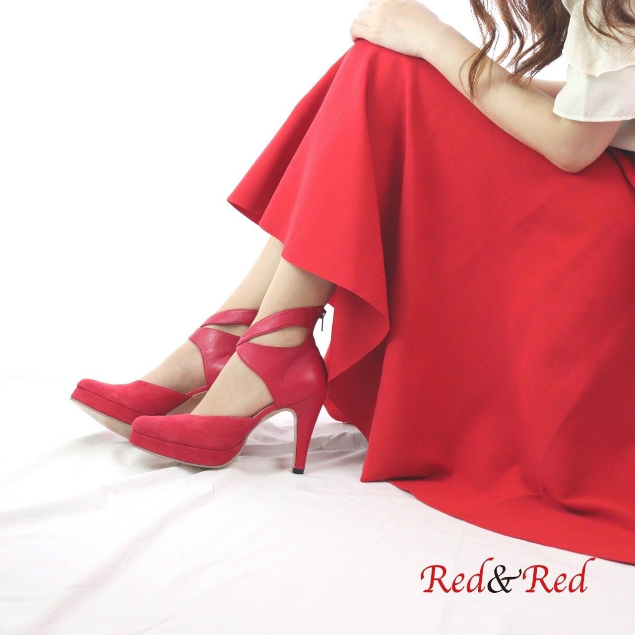 パンプスLady Red×Red