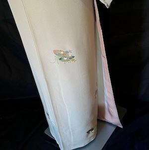 〈古典模様の小紋〉花模様 金彩 トール オトナ 上品 気品 送料無料