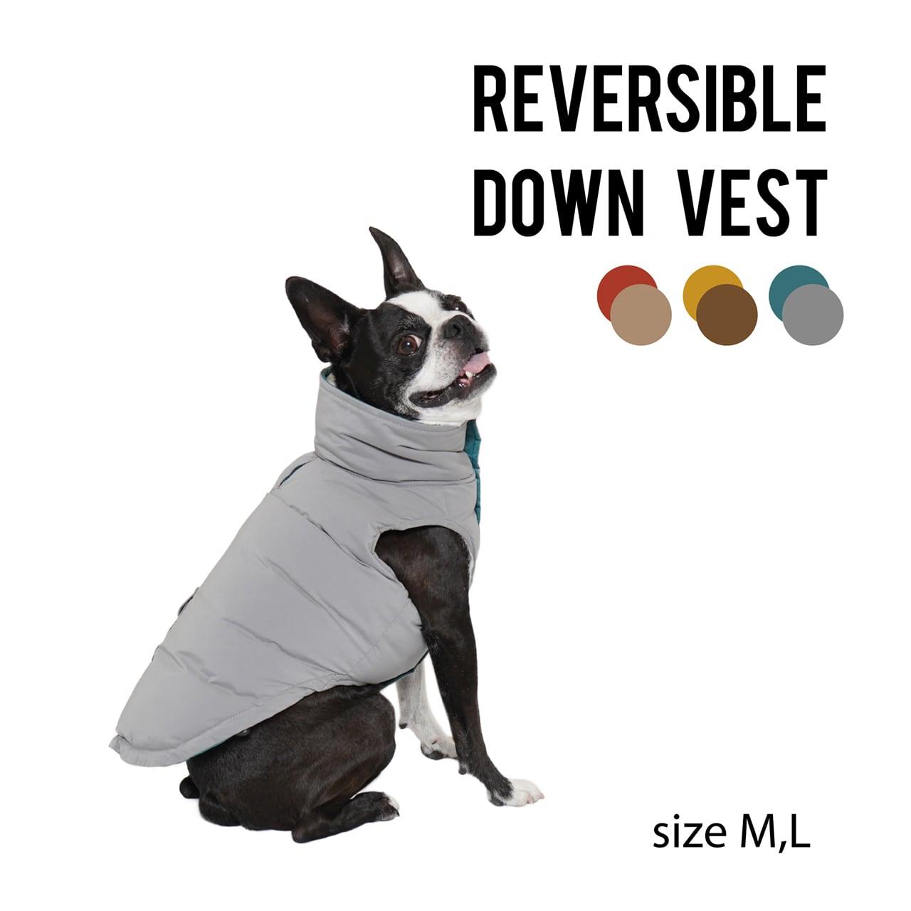 REVERSIBLE DOWN VEST(M・L) リバーシブルダウンベスト