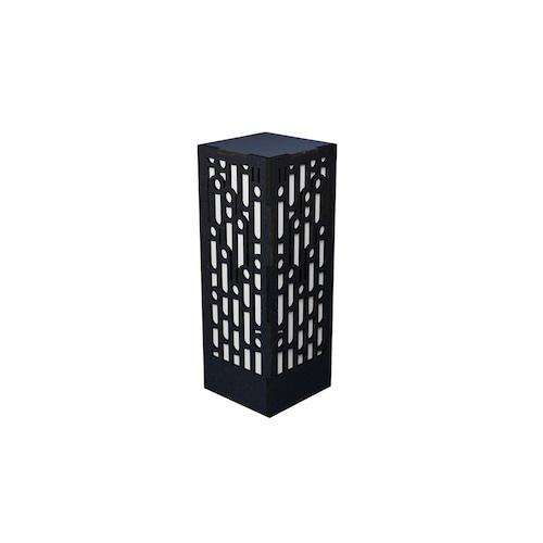 ミニ行灯 竹 - 置き型照明 Mサイズ ブラック