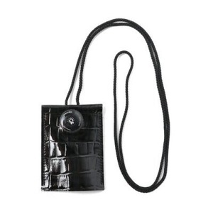 kiruna キルナ Freelock KEY&CARD ネック キーホルダー 【クロコ型押し BLACK】