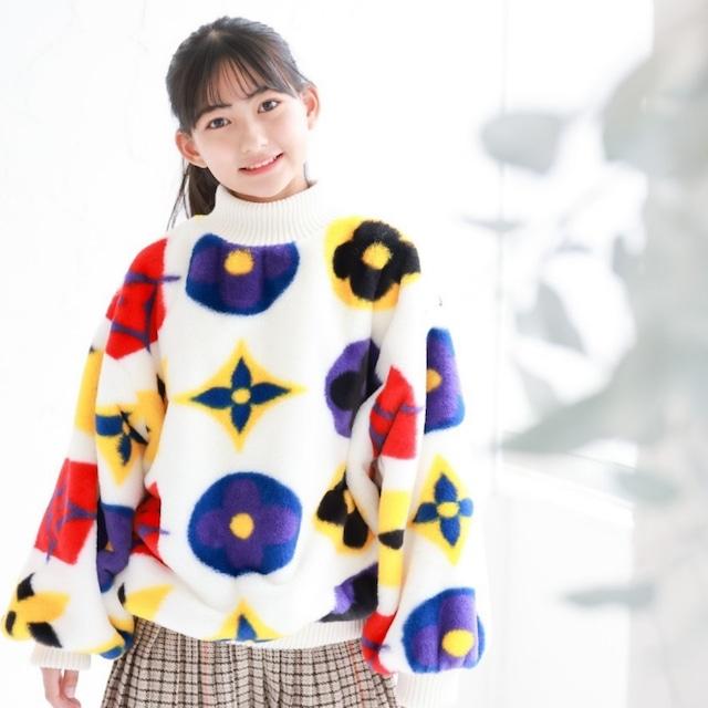 120〜170cm  ★ 長袖 タートルネック デザイン セーター ニット プルオーバー