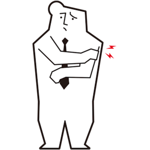 左腕が痛い男性会社員