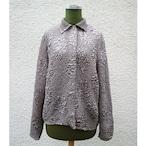 Shiny light gray pleats shirt