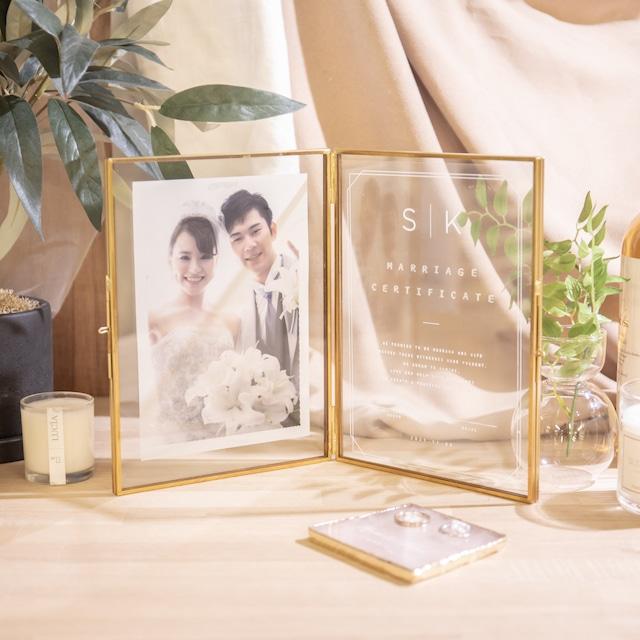 【結婚証明書】イニシャル|クリアタイプ