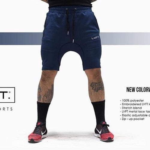 LIVE FIT Tech-Shorts- Navy