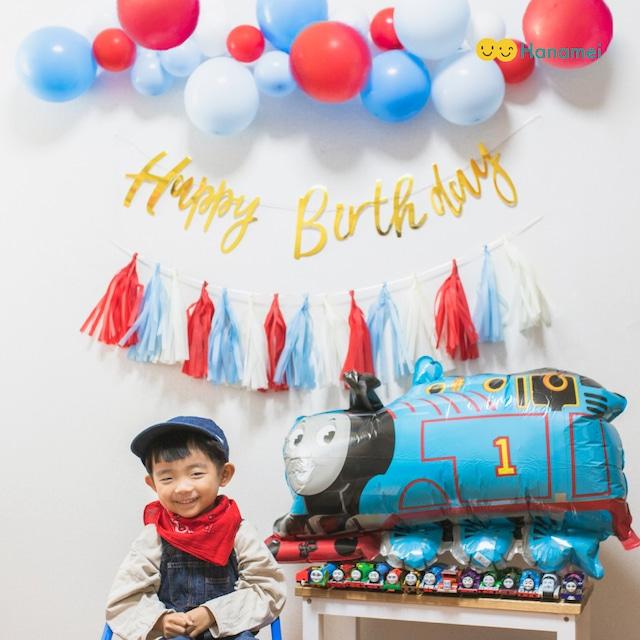 トーマスフレンズ バースデーバルーンセット 誕生日飾り付け 飾り バルーン 風船 バルーンガーランド ベビー 男の子 女の子