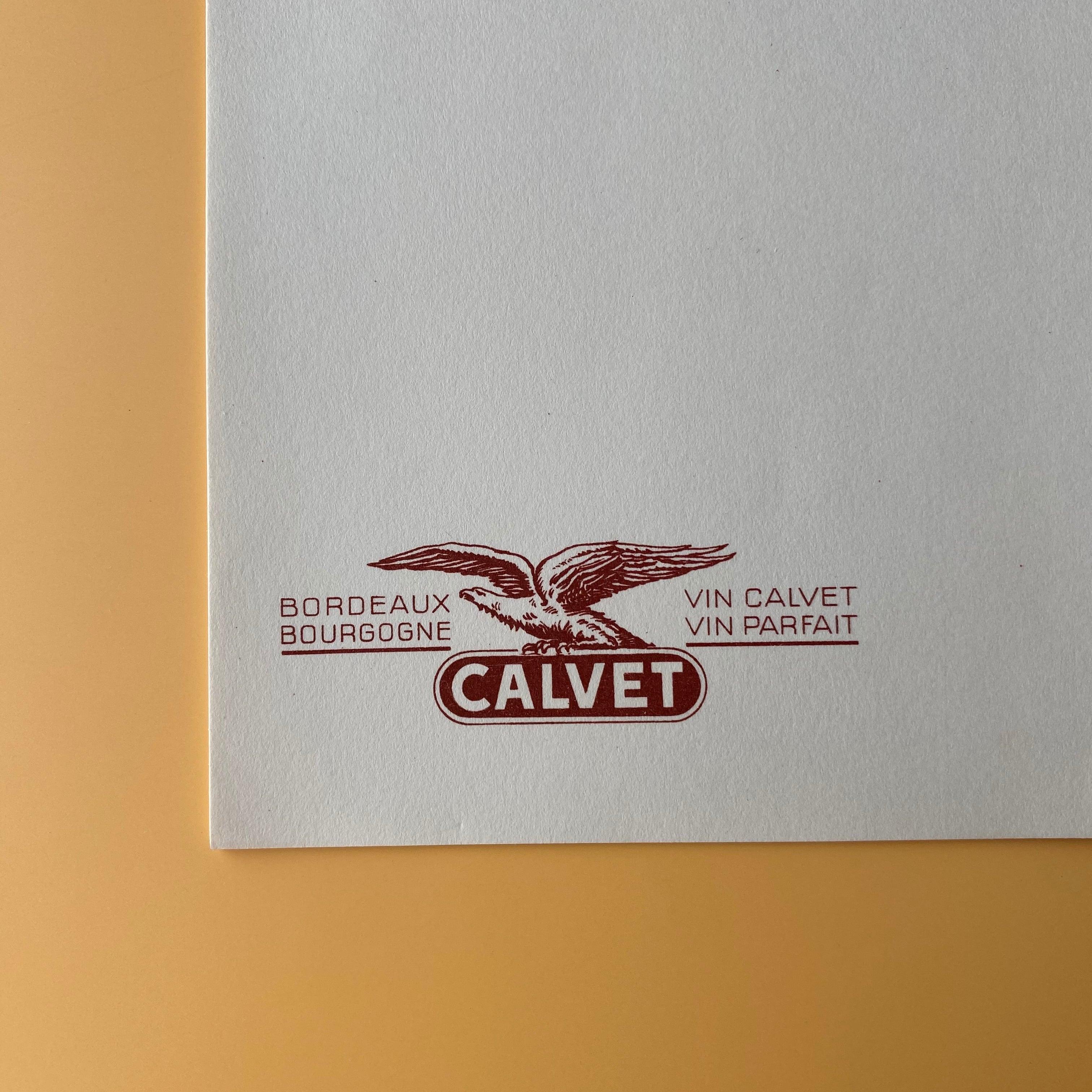メニューシート(CALVET)/ vp0062