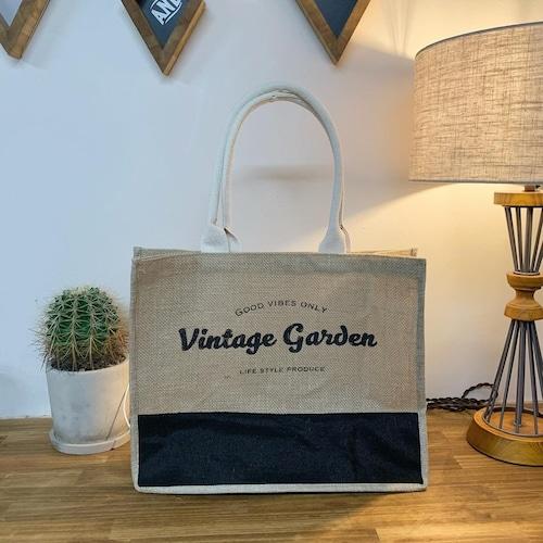VINTAGE GARDEN オリジナルジュートバッグ
